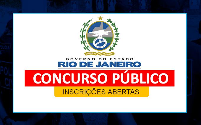 INSCRIÇÕES ABERTAS: RJ divulga EDITAL para nível superior com Salário de R$ 18.747,95