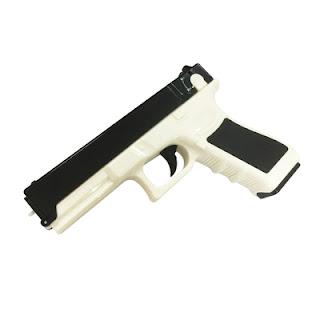 Súng bắn thun Glock màu trắng