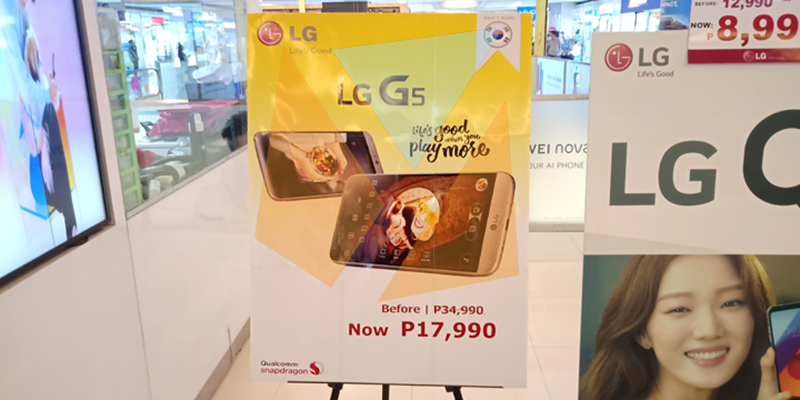 LG G5 price cut