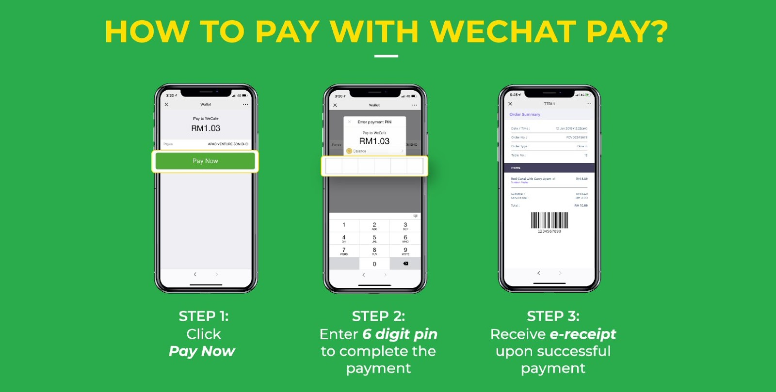 WeChat Pay Smart Order: How to pay?