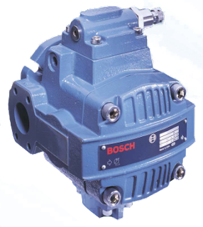 "Rexroth VPV Series Vane Pump 3000 PSI  VPV Series Vane pumps are designed to meet the requirements of the machine tool, general machinery, and other markets where low noise, high performance and competitive pricing are needed. The design of the VPV series of vane pumps utilizes 30 years of field and manufacturing experience from the current Rexroth vane pump line. State-of-the-art technologies and materials were utilized while retaining the superior features of the existing designs. Additional goals were to create a pump with the international market in mind and to incorporate the extremely high quality standards the Rexroth name has come to exemplify.  Benefit LOW COST - Competitively priced with other manufacturers of vane pumps and economy axial piston pumps. EXCEPTIONALLY QUIET - Helps machinery builders meet government and purchased sound level requirements. CONTINUOUS DUTY RATING - @ 3,000 PSI - High performance and long life design for 10,000 plus hours. HIGHLY EFFICIENT FAST RESPONSE & RECOVERY - Exceptional reaction time for critical system demands. PRESSURE COMPENSATED - Controls pump delivery to circuit demand thereby conserving energy. HIGH STRENGTH - Computer optimized casting design. HYDRODYNAMIC JOURNAL BEARINGS - Provides long life and quiet operation. NO PREFILL REQUIREMENTS - Pump case prefill not required for initial start-ups. REPAIRABLE - Repair kits and parts available from local distribution centers or the factory. CONTROL OPTIONS - Single stage; two-stage, remote control; solenoid multi-pressure, and load sensing. SHOCK CLIPPER - Reduces shock pressure by up to 50% increasing system component life and system stability.Must be plumbed on VPV 16, 25, & 32. The shock clipper is integrated into VPV 45, 63, 80, 100, 130, & 164 anddrains to the case drain. Specification General	VPV 16	VPV 25	VPV 32	lVPV 45	VPV 63	VPV 80	VPV 100	VPV 130	VPV 164 Displacement (Nominal)	1 in³/rev (16 cm³/rev)	1.5 in³/rev (25 cm3rev	2 in³/rev (32 cm³/rev)	2.75 in³/rev (45 cm³/rev)	3.84 in³/rev (63 cm3rev)	4.88 in³/rev (80 cm³/rev)	6.1 in³/rev (100 cm³/rev	7.9 in³/rev (130 cm3rev)	10.0 in³/rev (164 cm³/rev) Displacement (Actual)	1.06 in³/rev (17.37 cm³/rev)	1.66 in³/rev (27.20 cm³/rev)	2.05 in³/rev (33.59 cm³/rev)	2.98 in³/rev (48.83 cm³/rev)	4.03 in³/rev (66.04 cm3rev)	5.06 in³/rev (82.92 cm³/rev)	6.49 in³/rev (106.35 cm³/rev)	8.25 in³/rev (135.19 cm3rev)	10.33 in³/rev (169.28 cm³/rev Flow at 1750 RPM	7.57 GPM (28.6 L/min)	1.36 GPM (43.0 L/min	.15 GPM (57.3 L/min)	20.83 GPM (72.84 L/min	29.10 GPM (110.1 L/min	6.97 GPM (139.9 L/min)	45.4 GPM (171.8 L/min	9.85 GPM (226.5 L/min	5.76 GPM (286.7 L/min) Maximum continuous pressure	3000 psi (210 bar) Pressure compensating range	Single stage	200-3000 psi (14-210 bar) Minimum pressure of 190 PSI	- Two stage	300-3000 psi (20-210 bar) Minimum pressure of 290 PSI	350-3000 psi (24-210 bar) Minimum pressure of 300 PSI Maximum transient spike pressure	3800 psi (260 bar)	4000 psi (280 bar) Maximum case pressure	10 psi (0.7 bar) Speed range	1150-1800 RPM Direction of rotation (viewed from shaft end)	Right hand (clockwise) Case drain flow while compestating @1800 RPM	1000 psi (70 bar)	6 GPM (2.3 L/min)	0.6 GPM (2.3 L/min)	1.5 GPM (5.7 L/min)	1.4 GPM (5.3 L/min)	1.4 GPM (5.3 L/min)	1.5 GPM (5.7 L/min)	1.6 GPM (6.0 L/min)	1.7 GPM (6.4 L/min) 2000 psi (140 bar)	9 GPM (3.4 L/min)	1.1 GPM (4.2 L/min)	1.9 GPM (7.2 L/min	1.8 GPM (6.8 L/min)	1.8 GPM (6.8 L/min)	2.0 GPM (7.6 L/min)	2.2 GPM (8.3 L/min)	2.3 GPM (8.7 L/min) 3000 psi (210 ba	6 GPM (4.8 L/min	1.4 GPM (5.3 L/min)	2.5 GPM (9.5 L/min)	2.4 GPM (9.1 L/min)	2.3 GPM (8.7 L/min)	2.5 GPM (9.5 L/min)	3.0 GPM (11.3 L/min)	3.1 GPM (11.7 L/min) Maximum inlet vacuum at sea level	6 in. HG (152 mm HG) Mounting3– SAE 2-bolt flange (ISO 3019/1)	S.A.E. 'A' 2-bolt flange	S.A.E. 'B' 2-bolt flange	S.A.E. 'C' 2-Bolt flange	S.A.E. 'D', 2-bolt flange Mounting Position	Unrestricted Port sizes	Inlet	#16 S.A.E.	#24 S.A.E	2"" S.A.E.	2 1/2"" S.A.E. Outlet	#12 S.A.E.	#16 S.A.E	1 1/4"" S.A.E. flange	1 1/2"" S.A.E. Case drain	#8 S.A.E.	#8 S.A.E. Clipper control drain (optional)	#6 S.A.E.	- Remote control (optional)	#4 S.A.E.	#4 S.A.E. Drive	Pump to be connected to prime mover by means of a flexible coupling that is alignedto a maximum of 0.006"" (.152mm) total indicator reading. No overhung or side loadspermitted. Alignments greater than 0.006"" indicator reading could cause increasednoise and vibration as well as premature shaft seal wear resulting in leakage. Fluid recommendations	A premium quality hydraulic oil with anti-wear additives is recommended, but notrequired. Refer to publication 9 535 233 456 ""Petroleum Hydraulic Fluids"" for a listof fluids which meet or exceed the necessary lubrication requirements. Consult fac-tory for use with water base fire resistant fluids Fluid viscosity at operating temperature	Minimum	100 SUS (21 cSt)	150 SUS (32 cSt) Maximum	1000 SUS (216 cSt) Optimum	150-250 SUS (32-54 cSt)	200-300 SUS (43-65 cSt) Maximum start-up	4000 SUS (864 cSt) Fluid temperature	Normal inlet fluid temperature should not exceed 140°F (60° C). Always select a fluidfor optimum viscosity at operating temperature. Consult factory for applications assis-tance when inlet fluid temperatures over 140° F (60° C) are expected. Seals	Fluorocarbon Standard Filtration	Fluid cleanliness per ISO/DIS 4406 should be 18/15 or better for pressures of 2000 psi orless. For continuous operating pressures of 2000 to 3000 psi, fluid cleanliness should be17/14 or better. Response time (circuit dependent)	Full flow to minimum flow	20-35 ms	20-40 ms	20-50 ms Recovery time (circuit dependent)	Minimum flowto full flow	50-135 ms – single stage compensator	70-185 ms – single stage compensator	100-200 ms – two stage compensator	180-280 ms – two stage compensator Weight	Single stage	34 lbs. (16.5 kg)	61 lbs. (28 kg)	120 lbs. (55 kg)	240 lbs. (109 kg) Two stage	38 lbs. (17.3 kg	65 lbs. (28.5 kg)	128 lbs. (58 kg)	248 lbs. (112.7 kg) Download Datasheet: Rexroth VPV Series Vane Pump 3000 PSI210 Bar"