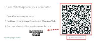 cara mengambil barcode whatsap
