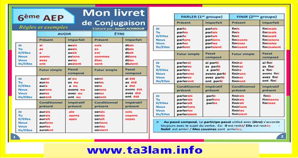 شرم رائع لقواعد اللغة الفرنسية: livret de conjugaison، Livret d'orthographe، livret de grammaire
