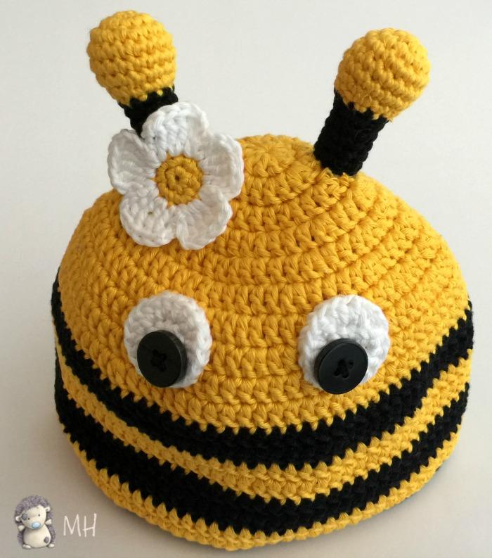 Gorrito abeja a crochet