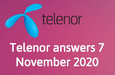 Telenor Quiz 7 November 2020 || Telenor answers 7 November 2020
