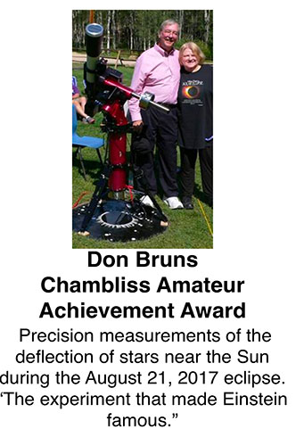 Don Bruns wins the AAS Chambliss Amateur Achievement Award
