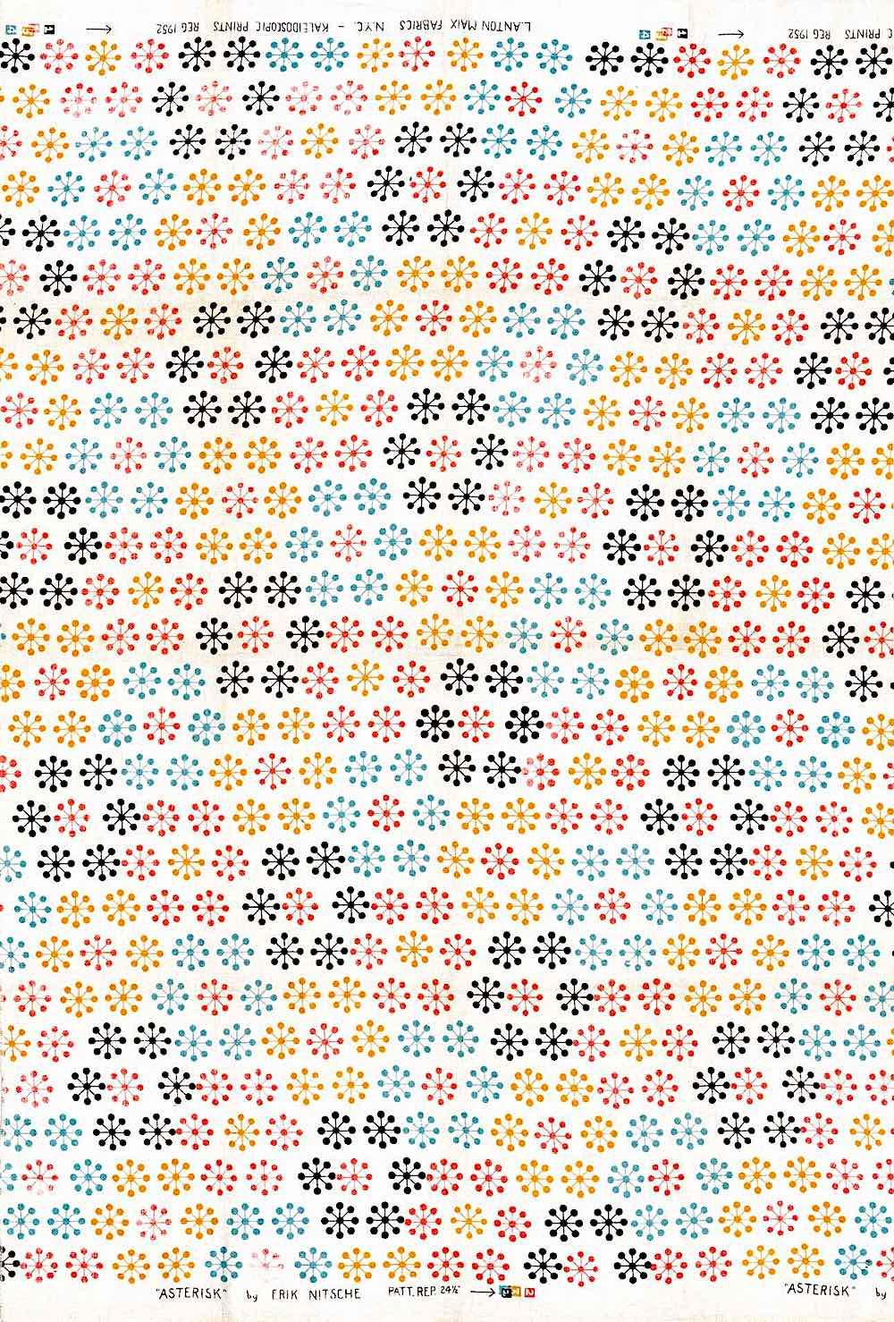 Erik Nitsche starbursts pattern