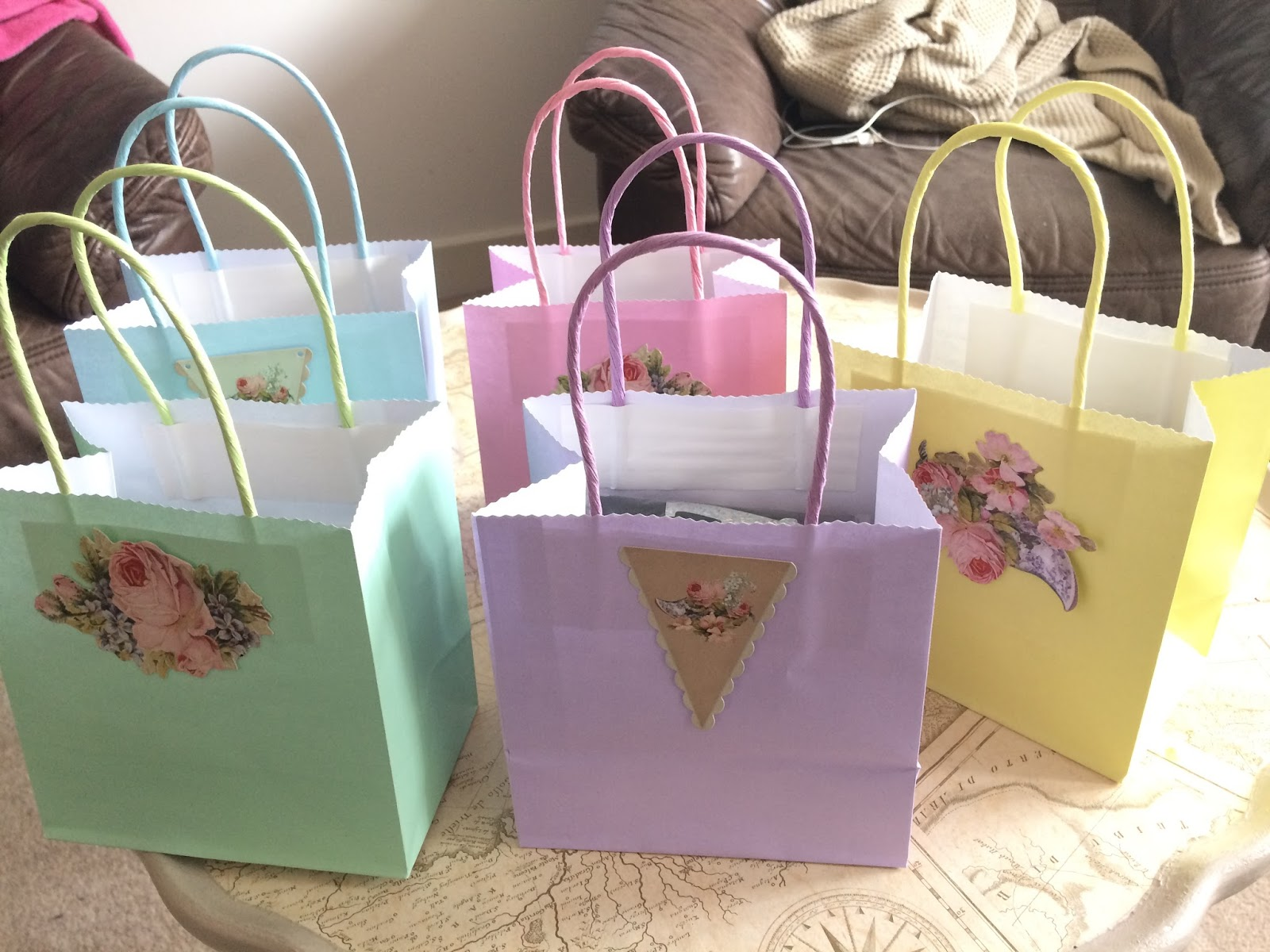 Pretty hen party bags