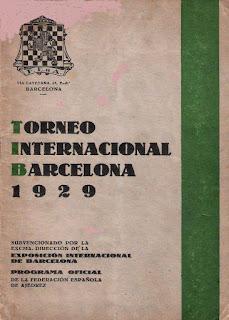 Portada del programa del Torneo Internacional de Ajedrez Barcelona 1929