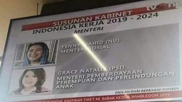 Grace Natalie Ketum PSI Dikabarkan Jadi Calon Menteri Baru Jokowi