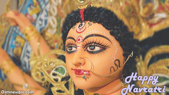 Happy Navratri Shayari image of Maa Durga