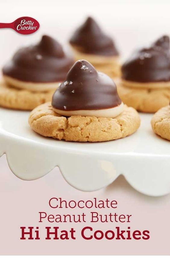 Chocolate Peanut Butter Hi Hat Cookies