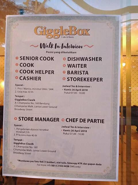 Loker Giggle Box Bandung