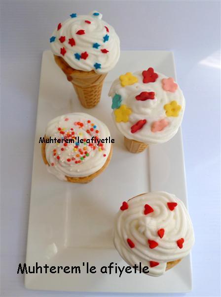 Dondurma külahında kek nasıl yapılır resimli anlatım
