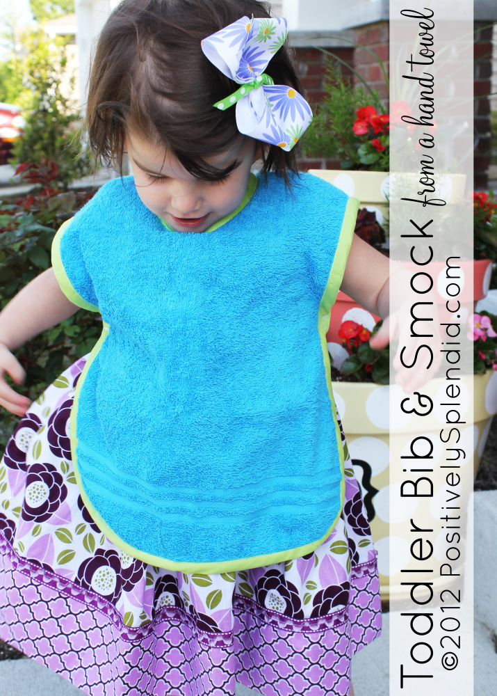 Toddler Bib Amp Smock Pattern Positively Splendid Crafts