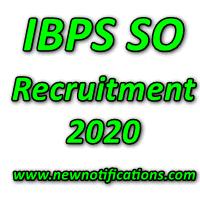 IBPS SO Recruitment 2020