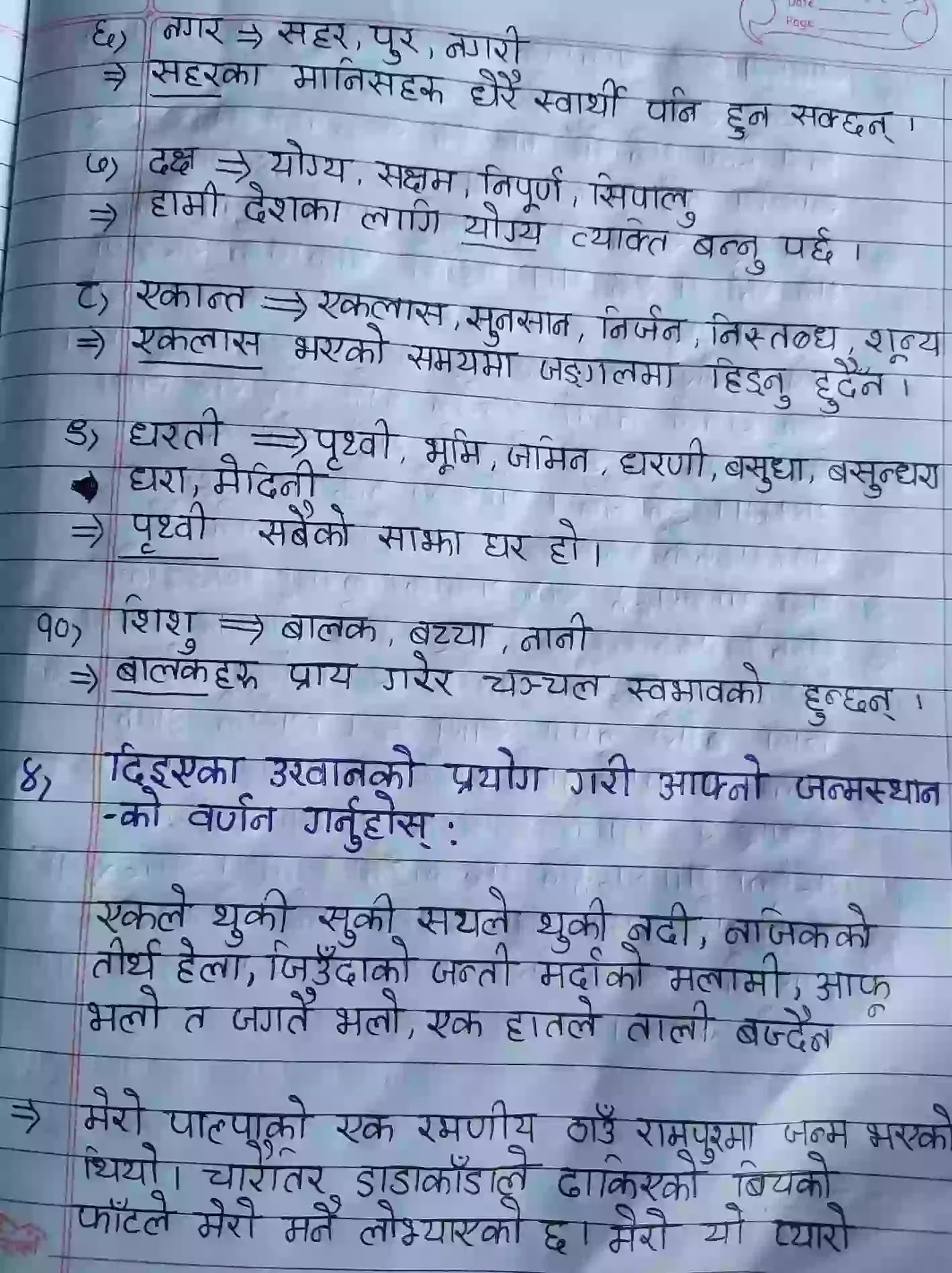 Class 12 Nepali Chapter 1 Solution Aama Ko Sapana