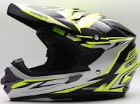 Cargloss MXC XENTURY Helm Motocross - Silver Yellow Deep Black