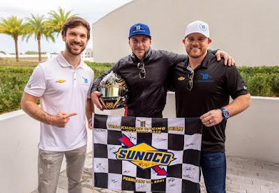 Daniel Suarez,  Justin Marks, and Pitbull #NASCAR