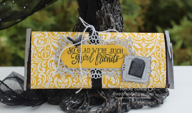 Monster Bash Candy Bar Wrapper by Nicole Steele The Joyful Stamper - free tutorial!