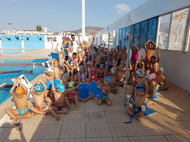 Με κολυμβητικές επιδείξεις γιόρτασαν οι Ιπτάμενοι Αργολίδας το κλείσιμο της καλοκαιρινής περιόδου