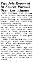 UFO Chased By Jets Over Los Alamos | UFO CHRONICLE- 1952
