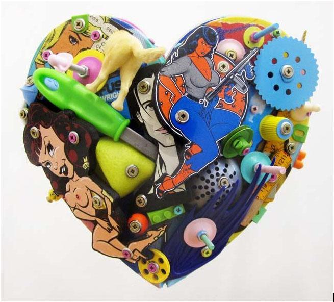 Eric Liot Heart Sculptures