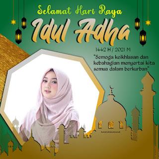 100 Twibbon Hari Raya Idul Adha 1442 H Tahun 2021 Keren