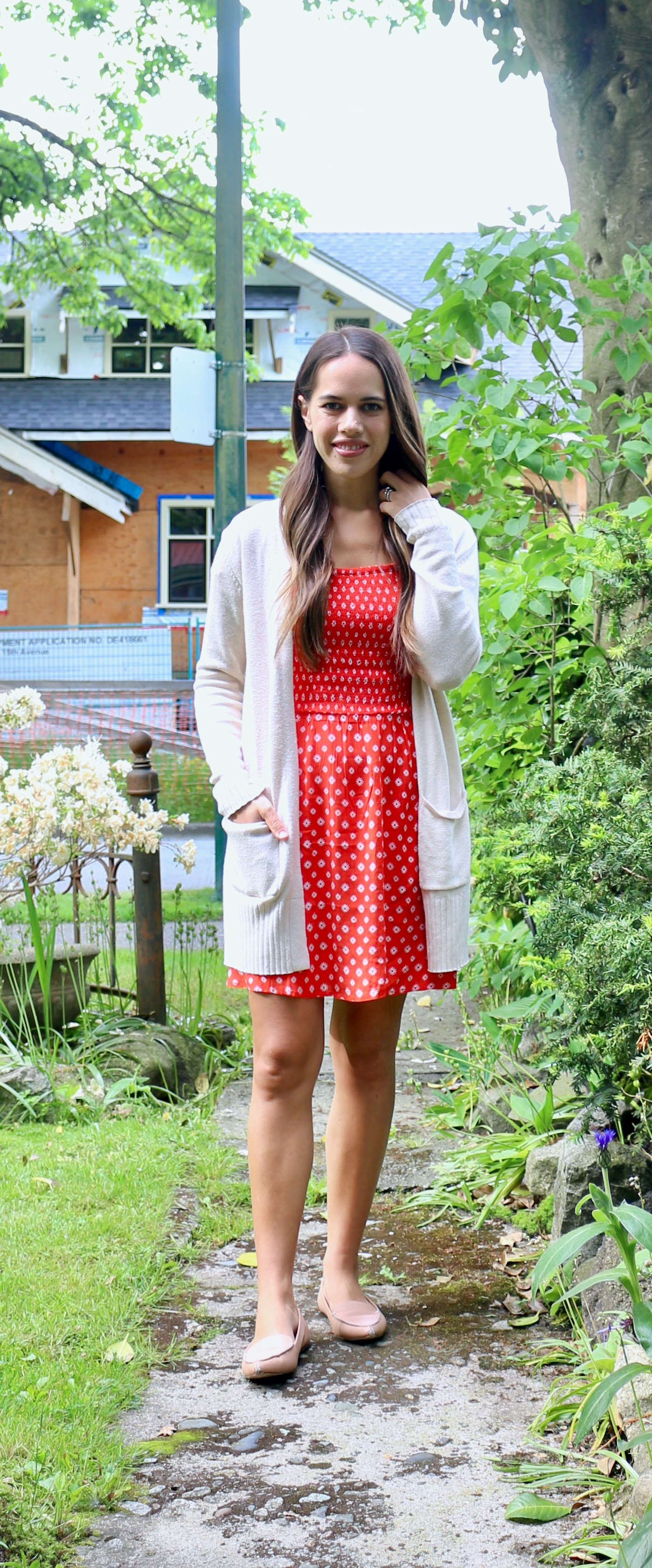 Jules in Flats - Smocked Floral Mini Dress (Easy Work from Home Outfit)