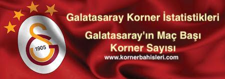 Galatasaray'ın Maç Başı Korner Sayısı