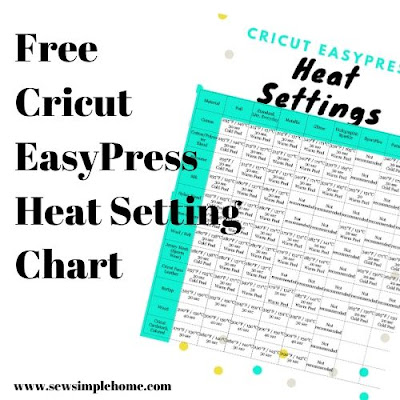cricut heat press settings