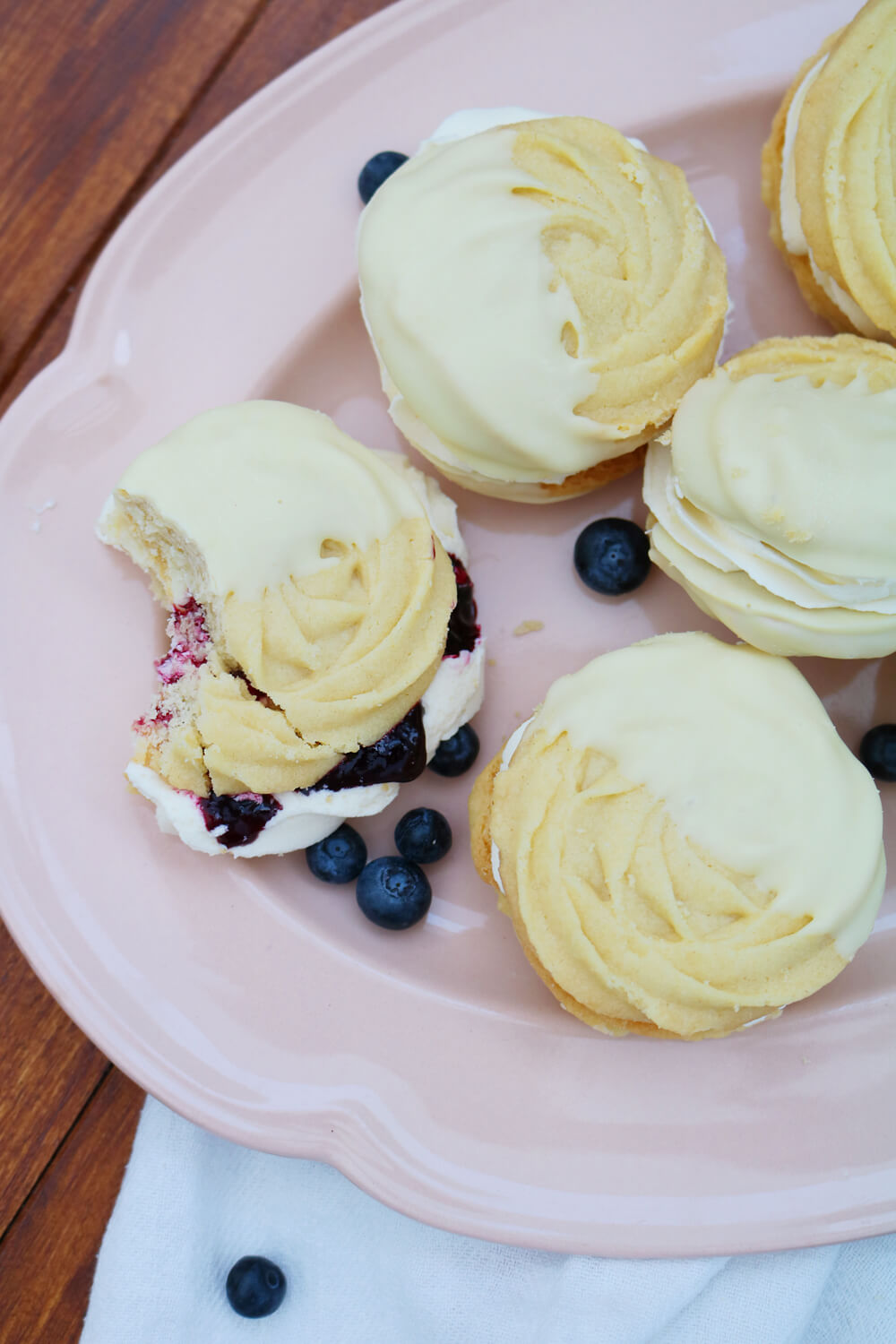 Blueberry Viennese Whirls