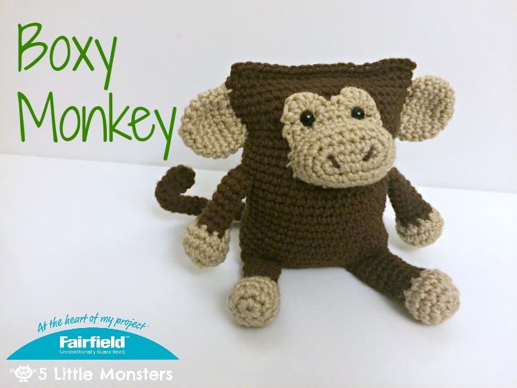 Amigurumi Monkey Pattern Free : Little monsters boxy monkey