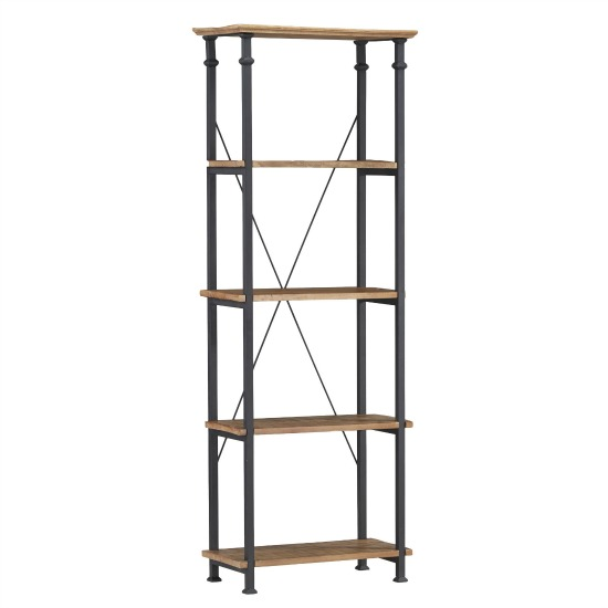 farmhouse industrial bookcase, mixed material