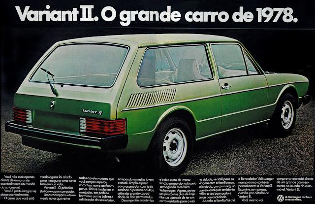 Propaganda da Volkswagen no final dos anos 70 para promoção da Variant II