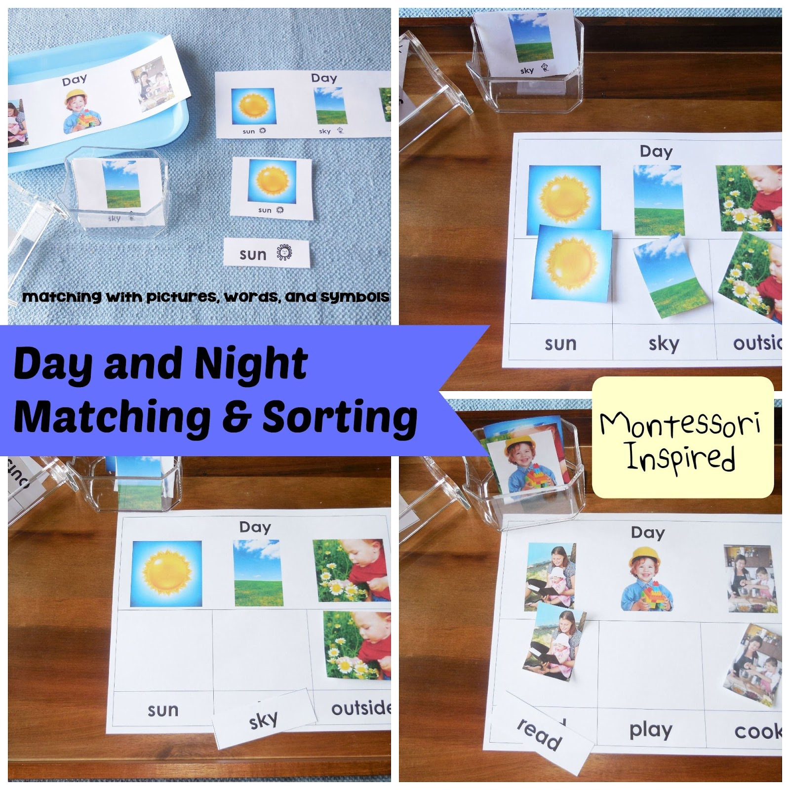 Diy Bedtime Box With Day And Night Matching And Sorting A