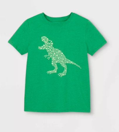 Boys T-Rex Shamrock Shirt