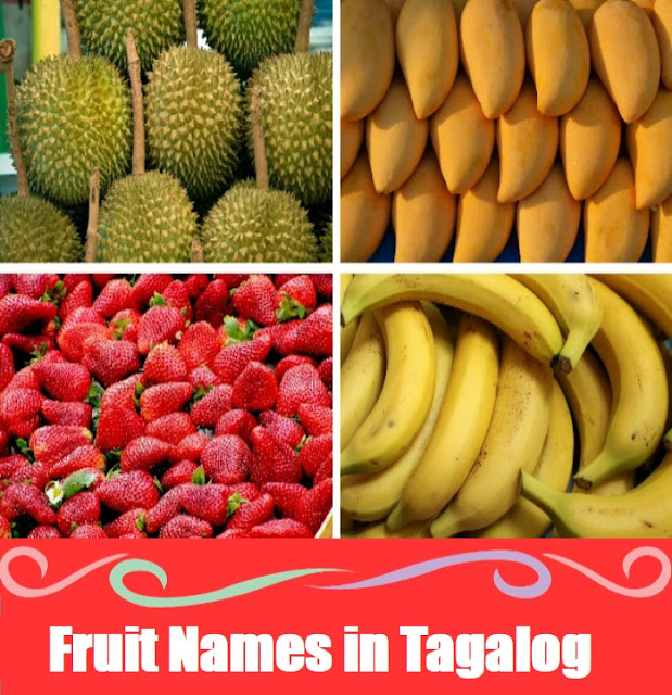 Fruits Names Vocabulary : Word List in Tagalog