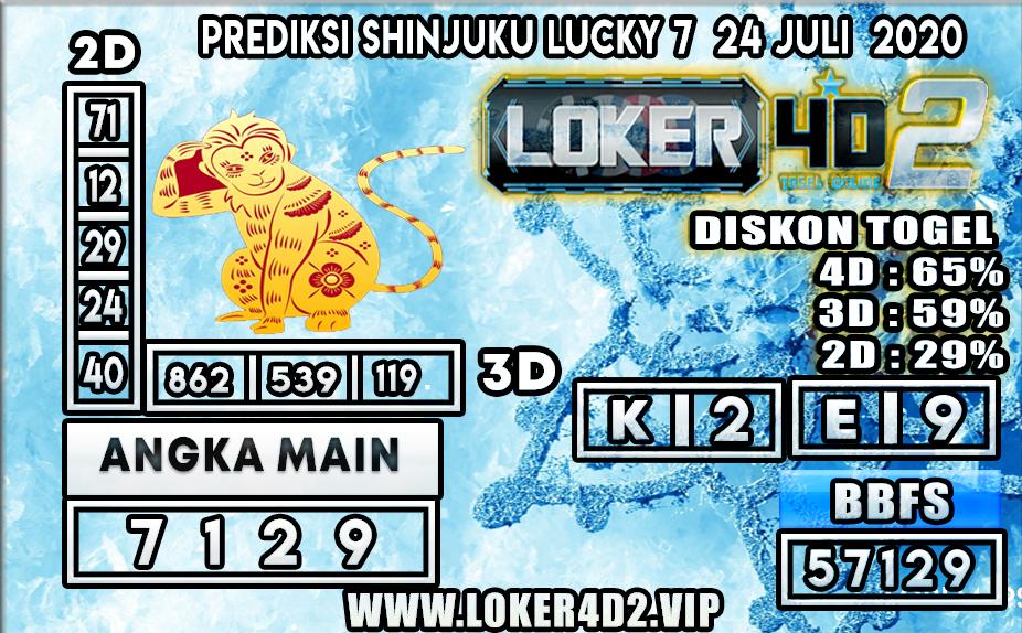 PREDIKSI TOGEL LOKER4D2 SHINJUKU LUCKY 7 24 JULI 2020