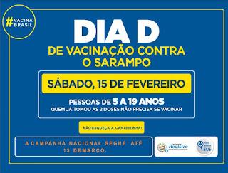Em Registro-SP, DIA D da Vacinação contra o Sarampo será neste sábado (15)