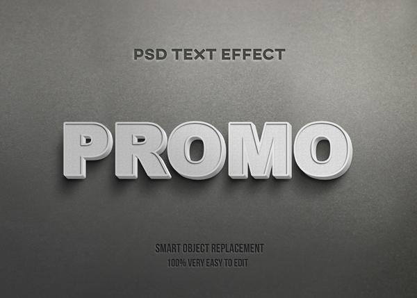 Promo White Concrete PSD Mockup