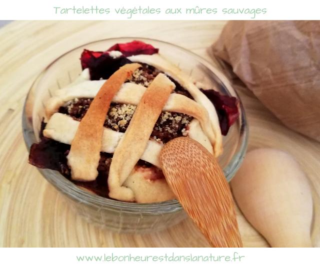 Tartelettes végétales aux mûres sauvages / Retour de cueillette recette
