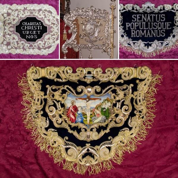 Santa Marta de Sevilla participará en la exposición «In nomine Dei» con varias insignias de la cofradía