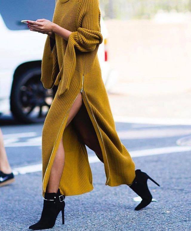 dluga suknia na drutach