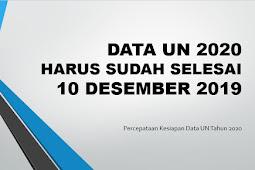 Info Percepataan Kesiapan Data UN Tahun 2020