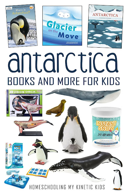 Learn about polar animals as you explore and play with Safari Ltd Antarctica toob and lots of great books and toys!