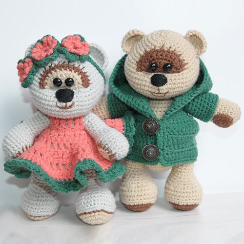 Honey Teddy Bears in Love - Free Pattern