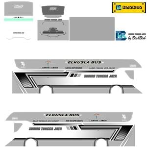 Livery Bussid STJ White Srikandi SHD