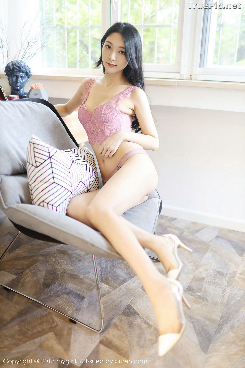 Image MyGirl Vol.322 - Chinese Model - Xiao Reba (Angela小热巴) - Croptop and Jean Short Pants - TruePic.net - Picture-44