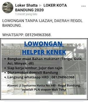Lowongan Helper Kenek